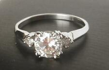 Vintage Art Deco 14k White Gold .93Ct I/VS Diamond Engagement Ring~.85 Ct Center