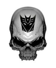 Transformer Skull Decal - Decepticon Sticker Graphic