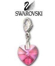 Swarovski Rose  Heart   Charm 1057661