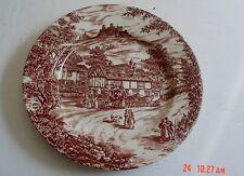 J Broadhurst & Sons England SWAN INN Brown And White Side Plate