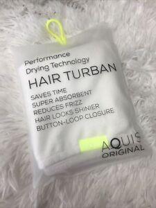 Aquis ORIGINAL  Super Absorbent Hair Turban WHITE New IN BAG AUTHENTIC