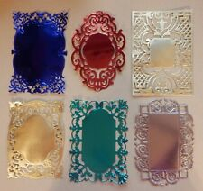 6 Anna Griffin Background Die Cuts  Made of Metallic Card Stock