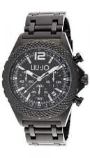 Reloj Hombre LIU JO Luxury DERBY TLJ835 Chrono Pulsera Acero Negro Oversize