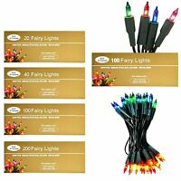 20|40|80|200 Multi colour Fairy Christmas String Lights Xmas Decorations