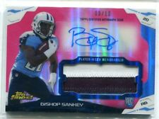 2014 Topps Finest Bishop Sankey PINK REFRACTOR PATCH RELIC AUTO RC 9/10 TITANS