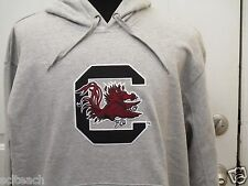 New Adult Gray Embroidered South Carolina Gamecock Long Sleeve Hooded Sweatshirt