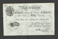 PEPPIATT  £50   1938   WHITE FIFTY    OPERATION BERNHARD    BANK OF ENGLAND B244