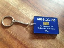 Rare Collectible Intel Inside i486 Chip Cpu Key Ring Chain