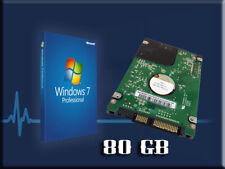 Hard Drive 80GB Windows 7 Laptop Sony SR FW VGP-BPL13 VGP-BPS21 VGP-BPS13.