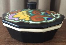 """Vintage Belgium Pottery, Flamand, Covered Dish Bowl, 6"""" Wide, 3"""" Tall,10-Sided"""