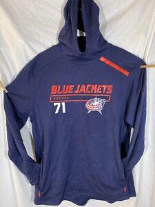 Fanatics NHL Authentic Pro Columbus Blue Jackets Sweatshirt Hoodie Blue Large