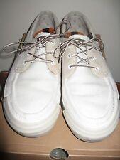 TIMBERLAND Canvas/Leather Boat Shoes # 62538 11 Medium U.S-White