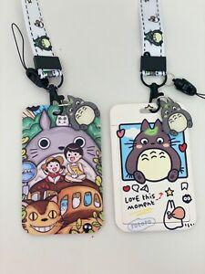 Totoro my neighbour  Kawaii Luna Artemis charm  ID card holder purse LANYARD