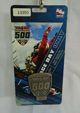 2007 Indianapolis 500 Silver Pit Badge 4043 Lanyard Race Day Hard Card Credentia