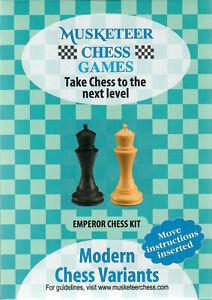 Musketeer Chess Variant Kit - Emperor - Black & Natural