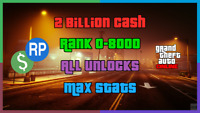 GTA Online Account Service - Steam/Rockstar - PC Cash & Ranks - Read Desription