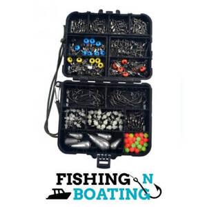 Fishing Tackle Box | 177 pcs | Swivel | Sinker | Hook | Fishing N Boating