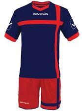 Multicolore Large Givova Croce Kit Calcio Unisex adulto (rosso/blu) L Sport