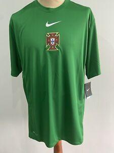 Portugal FPF Training Match Worn Player Shirt Jersey 2010 Nike Size XL New