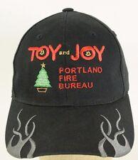 Toy And Joy Portland Fire Bureau Black Baseball Cap Hat Adjustable