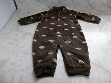 Baby Boy 6 Months Carter's Brown & Beige Fleece Football Pocket Romper Outfit