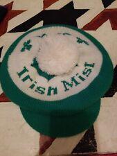 Vintage Irish Mist Golf Clover Newsboy Beanie Style Green White Hat Cap
