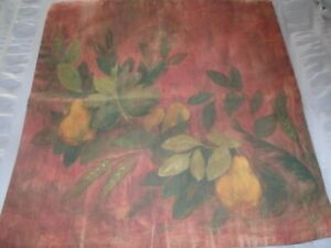 """NEW~POTTERY BARN: Cezanne-Inspired 24x24"""" Square Cushion-Pillow Cover/Stunning"""
