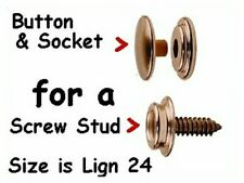 20 Buttons & Sockets for canvas Snaps Nickel ~ No Tools