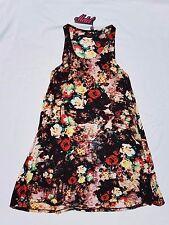 BNWT Motel (ASOS) Size S Dress Tank Singlet Floral Black Sleeveless Casual Mini