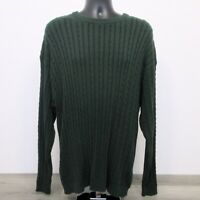 Brooks Brothers Golf Men's Pullover Sweater Size XL Cable Knit Australia Green