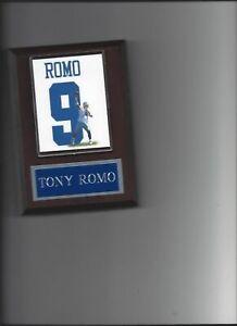 TONY ROMO PLAQUE DALLAS COWBOYS FOOTBALL NFL JERSEY PHOTO