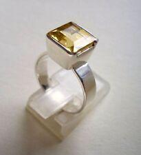 Ring mit  Citrin, 925er Silber, Gr. 17,2