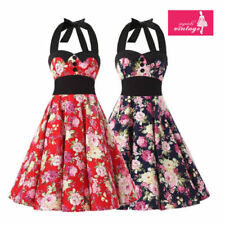 Floral Sleeveless Dresses for Women with Buttons