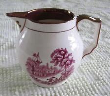 "Gray's Pottery Stoke on Trent Copper Lustre Trim 4.25""  Milk Pitcher"