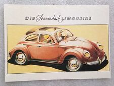 Volkswagen Limousine Post Card 1st On eBay Car Poster. Own It!