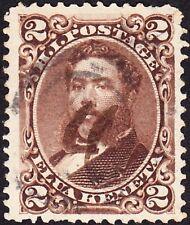 Hawaii - 1875 - 2 Cents Brown King David Kalakaua #35 w Scarce Manuscript Cancel