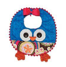 Mud Pie Forest Friends Fall Thanksgiving Baby Girl Owl Feeding Bib 155A016