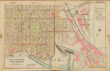 1906 ELIZABETH, UNION, NEW JERSEY, JACKSON PARK ST. PATRICK'S CHURCH ATLAS MAP