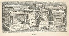 A6693 Altari - Stampa Antica del 1924 - Xilografia