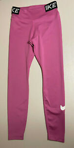 Nike Womens Leggings Dri Fit, Size M, Pink