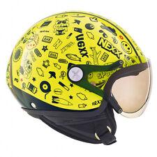 NEXX Sx60 Spock Neon Yellow Moto Motorcycle Open Face Kids Helmet | All Sizes