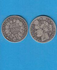 Gertbrolen 2 Francs argent Cérès  1871 Paris Variété Grand A Exemplaire N° 4