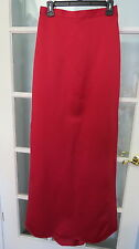 Jordan NWT Cranberry red long satin formal skirt ladies size 8 womens bridesmaid