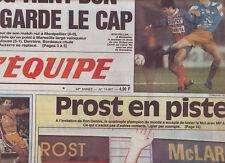 journal  l'equipe 10/02/94  FOOTBALL MONTPELLIER PARIS SG ALAIN PROST BASKET