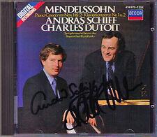 Andras nave & Dutoit SIGNED Mendelssohn PIANO CONCERTO 1 & 2 Charles DECCA CD