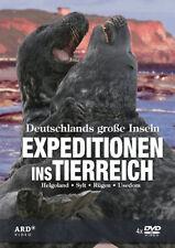 4 DVDs * EXPEDITIONEN INS TIERREICH - DEUTSCHLANDS GROßE INSELN - u.a SYLT # NEU