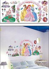 DISNEY PRINCESS & CASTLE,FLOWER GARDEN Kids Wall sticker for Kids room/ Nursery