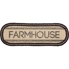 "Rustic FARMHOUSE Braided Jute 8"" x 24"" Oval Runner"