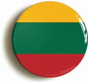 LITHUANIA LITHUANIAN NATIONAL FLAG BADGE BUTTON PIN