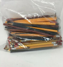 Huge Lot Vintage Wooden Advertising Pencils Railroad Oil Mixed Variety
